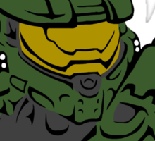 Master Chief Headshot Celtic Colored Sticker