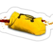 A yellow utopic bag Sticker
