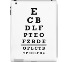 Eye chart test iPad Case/Skin