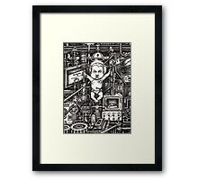 Man vs. Himself... Framed Print