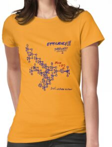 Optimal tip to tip efficiency - From the middle out  Womens Fitted T-Shirt