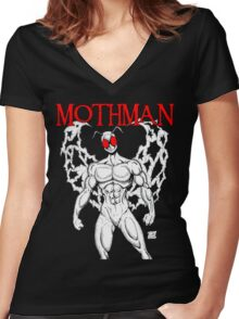Mothman Women's Fitted V-Neck T-Shirt