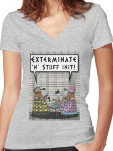 Chav Daleks Women's Fitted V-Neck T-Shirt