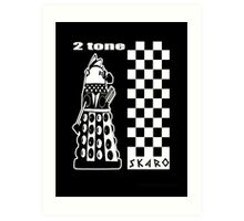 Two Tone Dalek Art Print