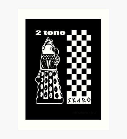 Two Tone Dalek Art Print