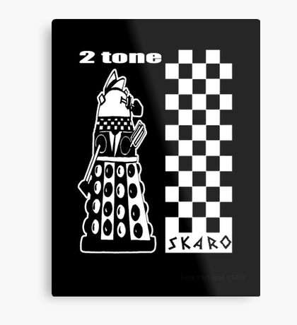 Two Tone Dalek Metal Print