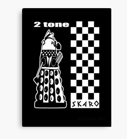 Two Tone Dalek Canvas Print