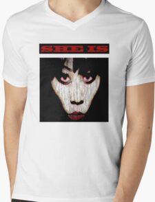 SHE IS Mens V-Neck T-Shirt