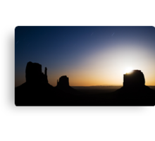 Monument Valley Moonrise Canvas Print