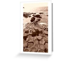 Giants Causeway  Greeting Card