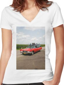 1970 Cadillac Miller Meteor Ambulance Women's Fitted V-Neck T-Shirt