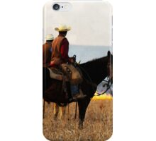 Watching the Fire in the Flint Hills iPhone Case/Skin