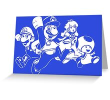 Team Mario! Greeting Card