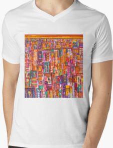 Sunset City Mens V-Neck T-Shirt