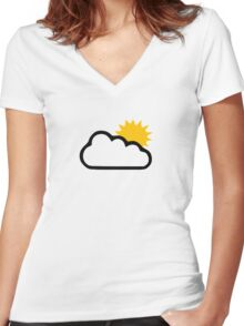 Sun clouds Women's Fitted V-Neck T-Shirt