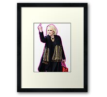 Joan Rivers Flipping Off The Paparazzi Framed Print