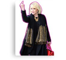 Joan Rivers Flipping Off The Paparazzi Canvas Print