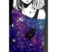 Anime Galaxy girl Photographic Print