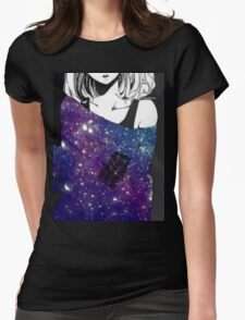 Anime Galaxy girl Womens Fitted T-Shirt
