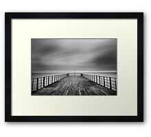 The End Of The Pier Framed Print
