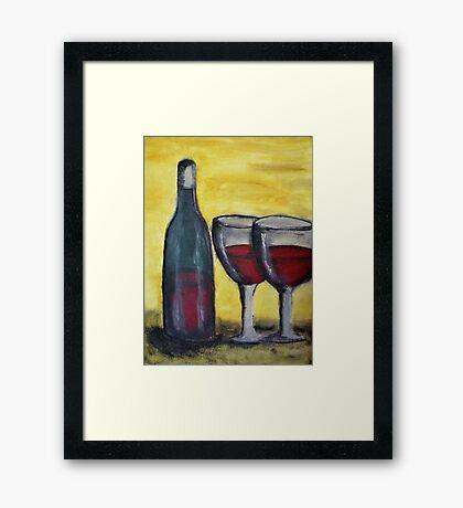 Wine for Two Framed Print