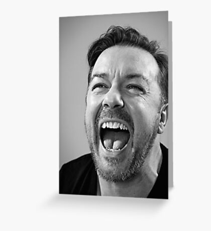 Ricky Gervais laugh  Greeting Card