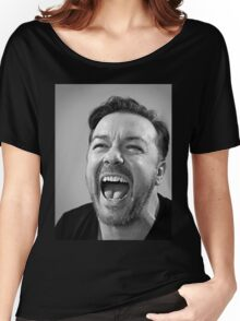 Ricky Gervais laugh  Women's Relaxed Fit T-Shirt