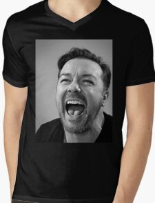Ricky Gervais laugh  Mens V-Neck T-Shirt