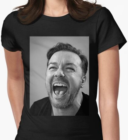 Ricky Gervais laugh  Womens Fitted T-Shirt