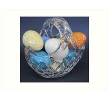Basket of eggs Art Print
