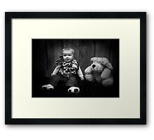Me and my dog! Framed Print