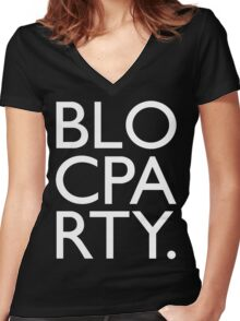 Bloc Party Big Letters Women's Fitted V-Neck T-Shirt