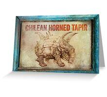 Chilean Horned Tapir. Greeting Card