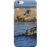 Redhead Skimming the Surface iPhone Case/Skin