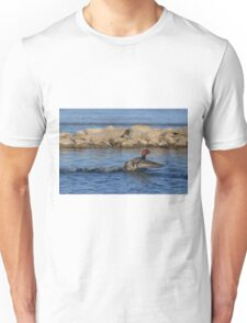 Redhead Skimming the Surface Unisex T-Shirt