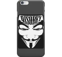 Anonymous Mask - Disobey iPhone Case/Skin