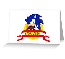 Sonic Boom - Chibi Sonic Greeting Card