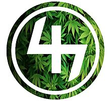 47 (4th and 7th Chakra) Weed Marijuana Photographic Print