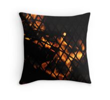Skull In The Fire Photograph Throw Pillow