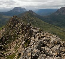 The view east from Perrins Bluff, Tasmania by tasadam