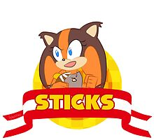 Sonic Boom - Chibi Sticks by areluctanthero