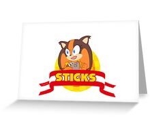 Sonic Boom - Chibi Sticks Greeting Card