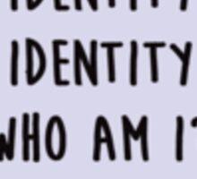 Identity Sticker