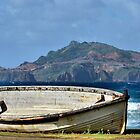 Retired Long Boat - Kingston Norfolk Island by Bev Woodman