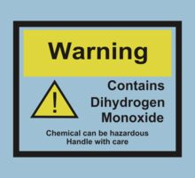 Chemical Warning Sign: Dihydrogen Monoxide Kids Tee