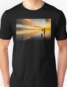 Sunrise Reflections over the Pier T-Shirt