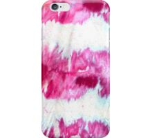 Fuchsia ice dye stripes iPhone Case/Skin