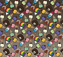 Ombre Chocolate Frosy Treats by happynerdcore