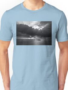 Dawn Cloudscape in Monochrome Unisex T-Shirt