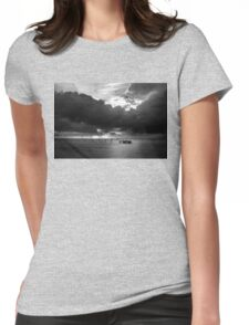Dawn Cloudscape in Monochrome Womens Fitted T-Shirt
